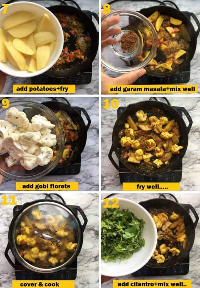 Recipe steps with photos