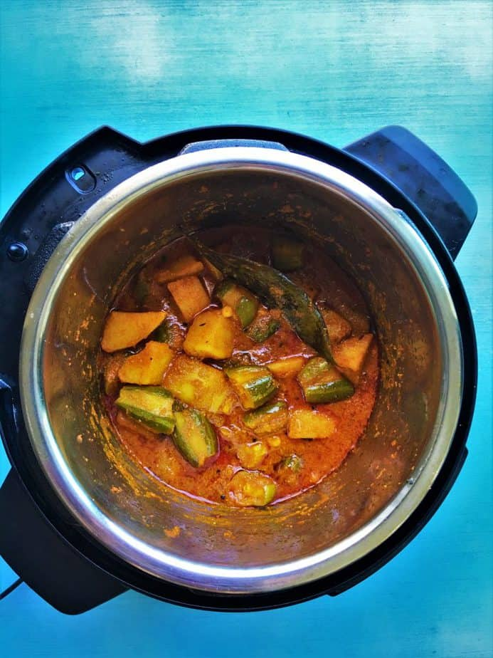 Aloo Parwal in Instant Pot