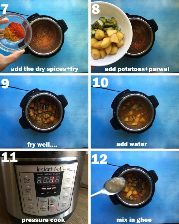 How to make aloo parwal gravy in Instant pot step by step