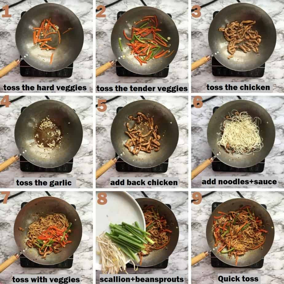 Chicken lo mein step by step recipe pictures