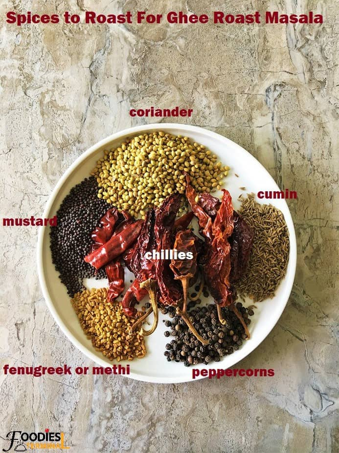 Ghee roast masala paste ingredients