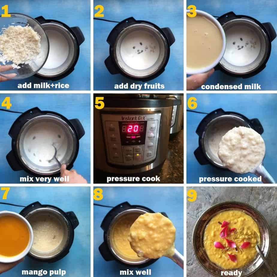 Step by Step Instructions to make Mango Kheer.