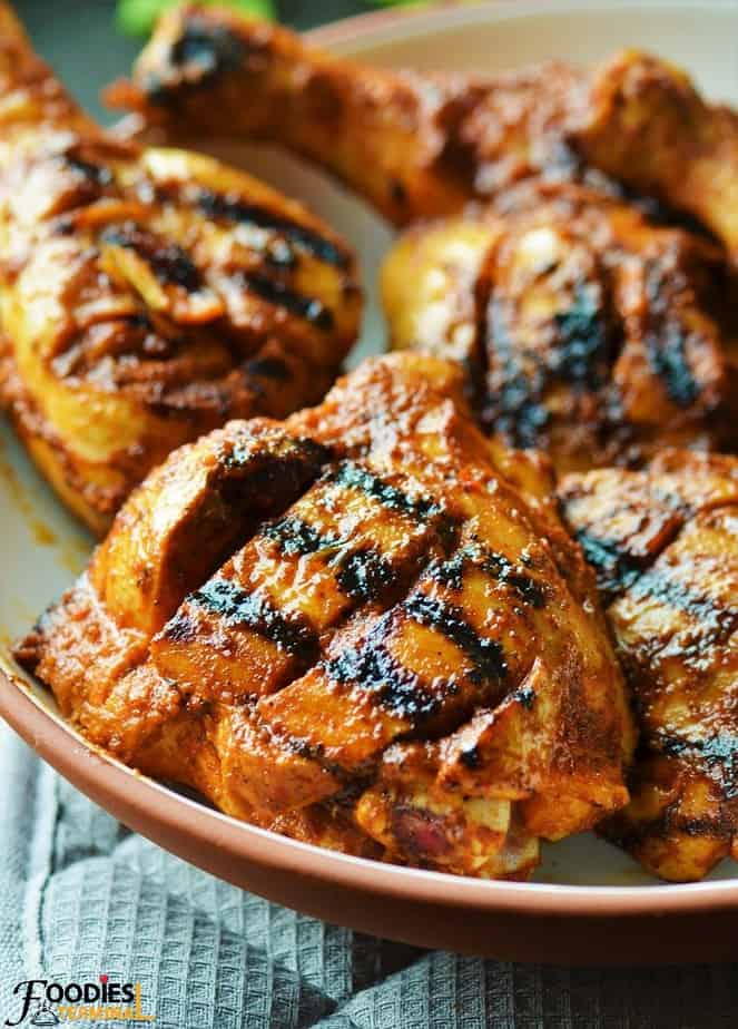 Mozambique peri peri chicken made with thighs