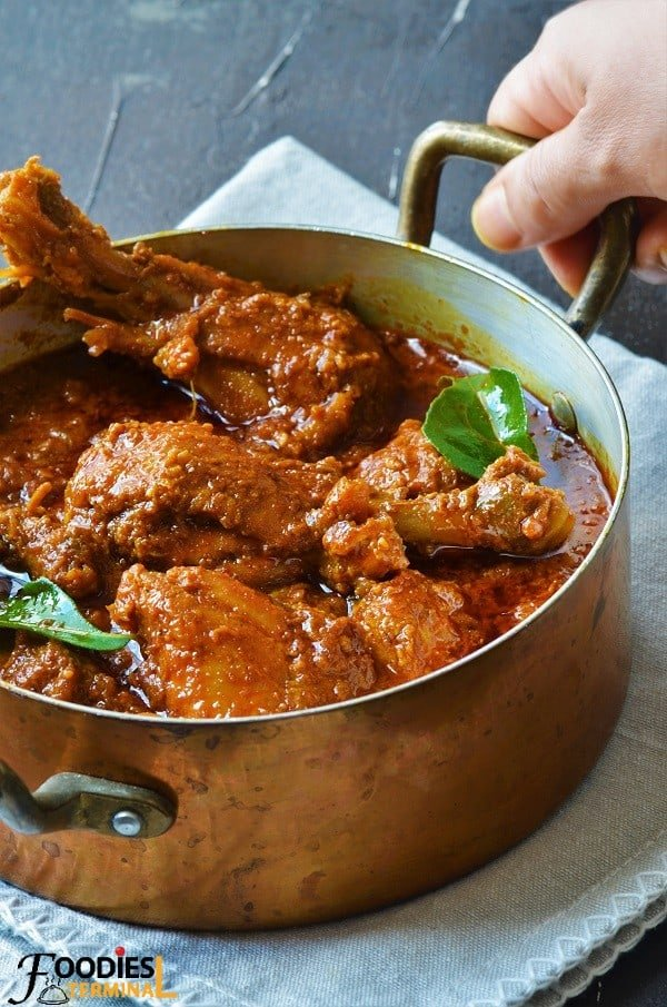Chicken Madras Curry recipe cooked in Instant pot