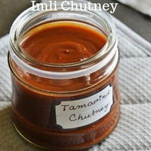 Imli Chatni in a transparent jar with a nameplate