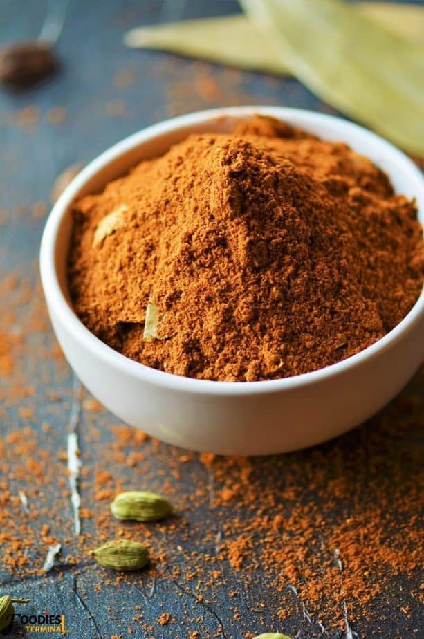 Hyderabadi Biryani Masala Powder recipe in a white pot