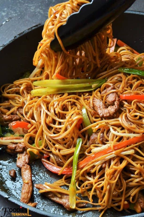 Authentic healthy homemade chicken lo mein recipe