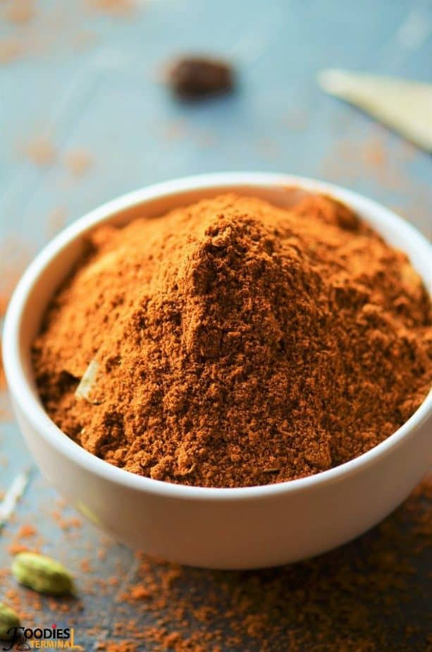 Biryani Masala Powder made at home in a bowl