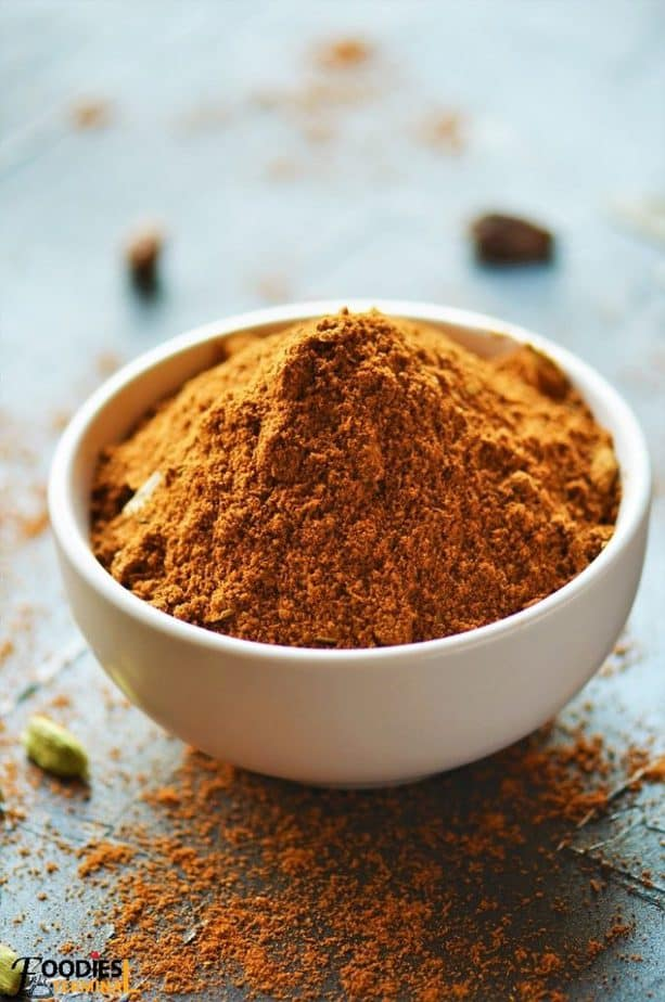 Biryani Masala Powder Recipe in a white bowl