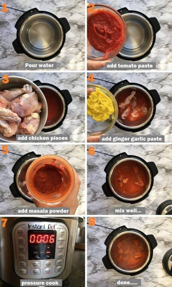 Zero oil chicken curry recipe steps pics