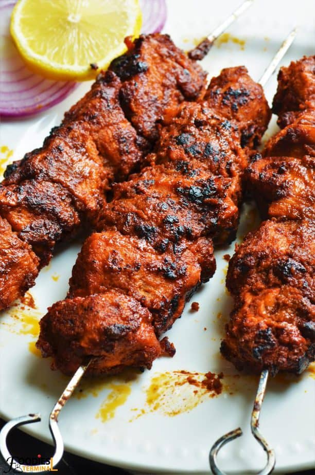 Chicken Angara Kabab baked in oven