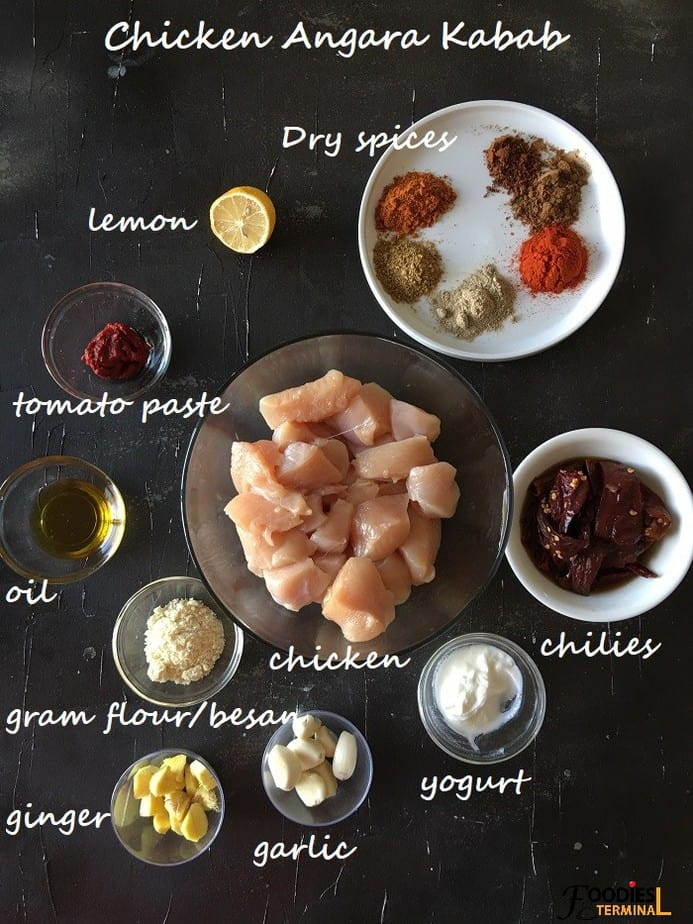 Recipe ingredients in bowls