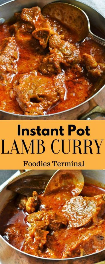 Easy Indian sty;e lamb curry instant pot recipe