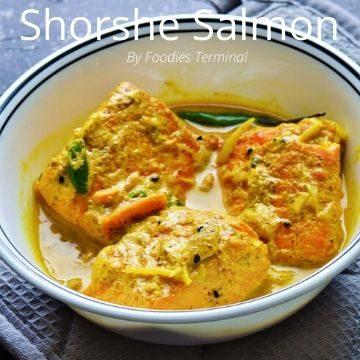 Shorshe bata salmon recipe