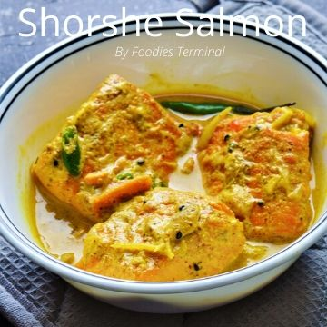 Shorshe bata salmon recipe