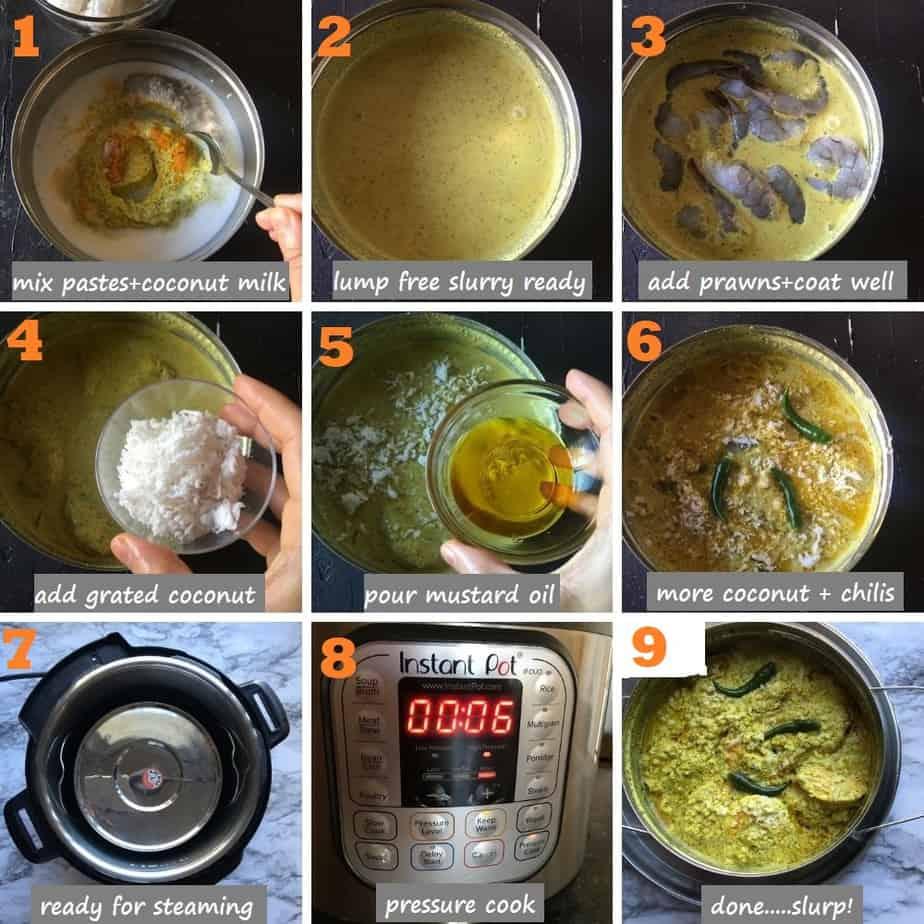 How to make Bhapa chingri bengali recipe steps pics