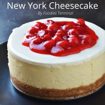 Instant Pot Cheesecake with cerries