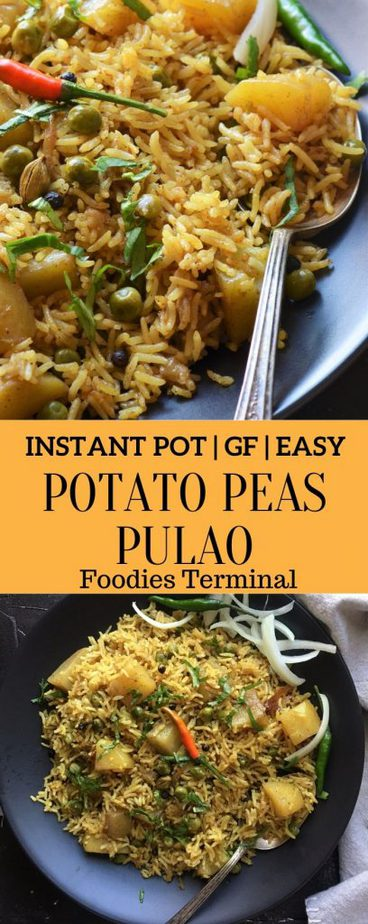 Potato Peas Pulao made in Instant Pot