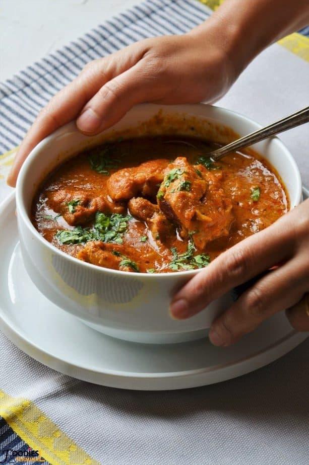 Instant Pot Boneless chicken gravy recipe in bowl on white plate