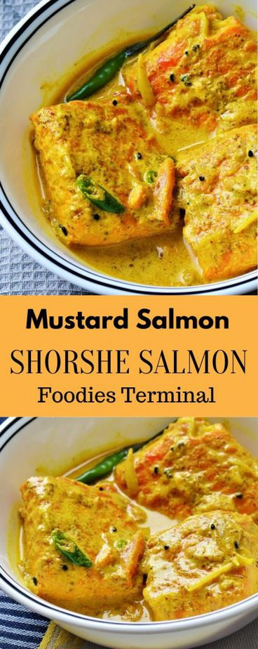 Mustard Salmon or Shorshe Salmon jhal
