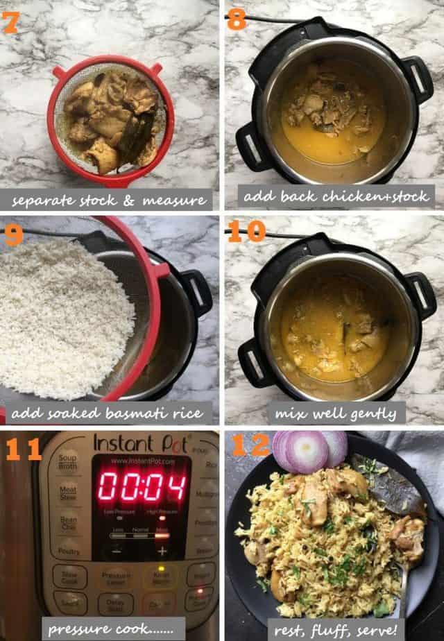 Easy chicken pulao steps with pictures