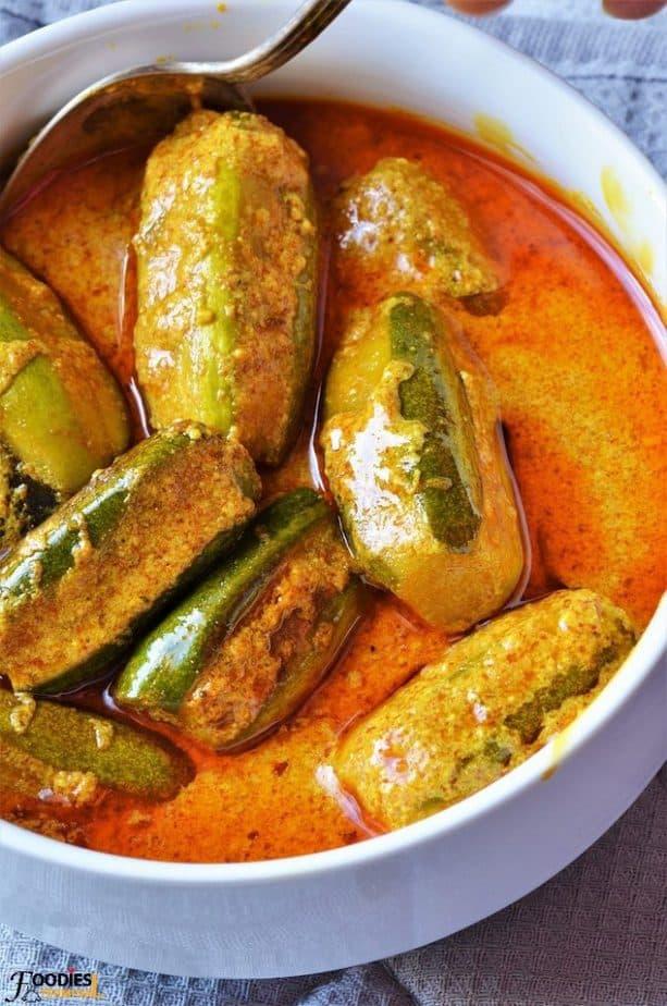 Niramish Doi Potol bengali recipe in a bowl