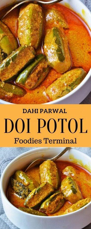 Bengali style Doi potol recipe without onion or dahi parwal