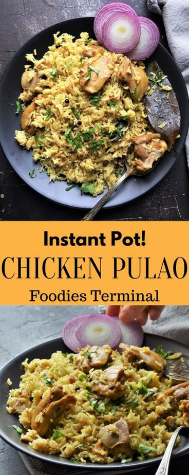 Easy Indian Chicken Pulao made in Instant Pot