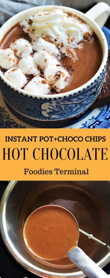 Hot Chocolate in pressure cooker instant pot