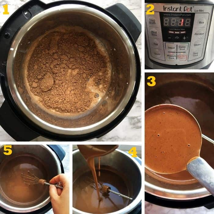 how to make best hot chocolate in Instant Pot step by step
