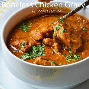 Indian style Boneless chicken gravy in instant pot