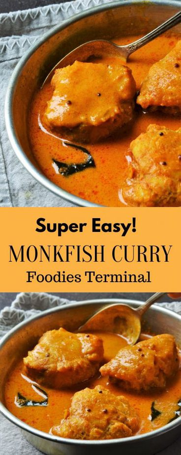 Monkfish curry with coconut milk