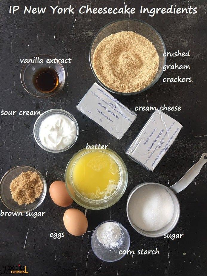 Instant pot new York cheesecake recipe ingredients