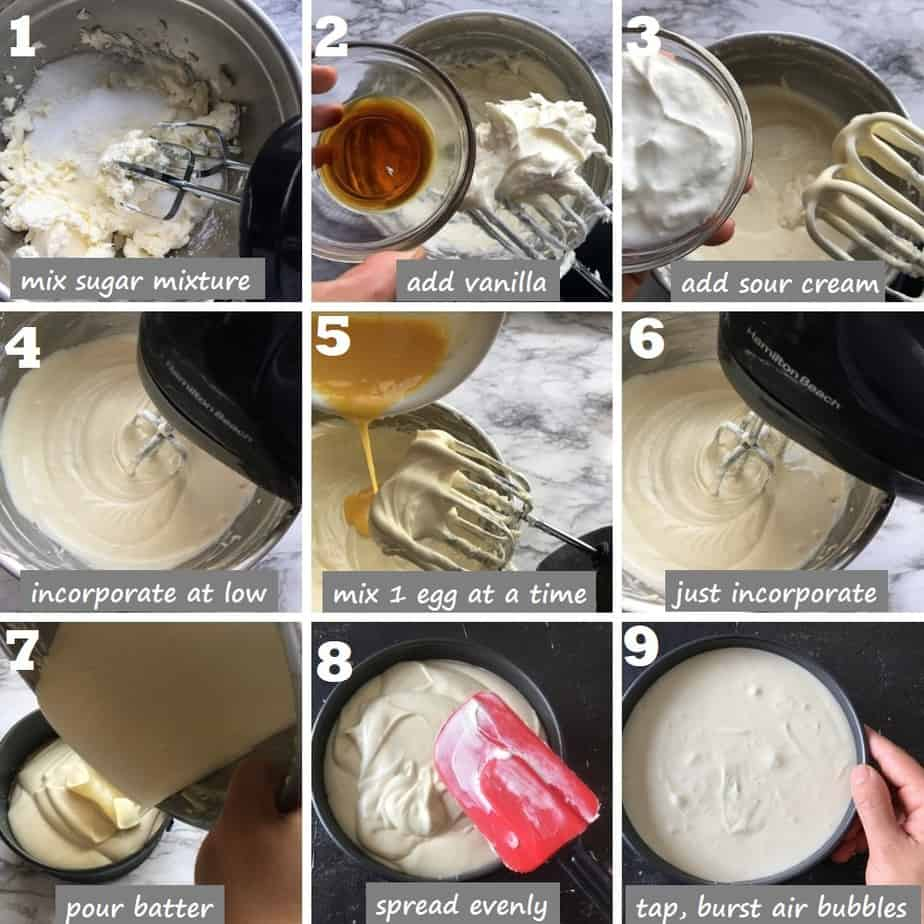 Step by step new york cheesecake filling with pics