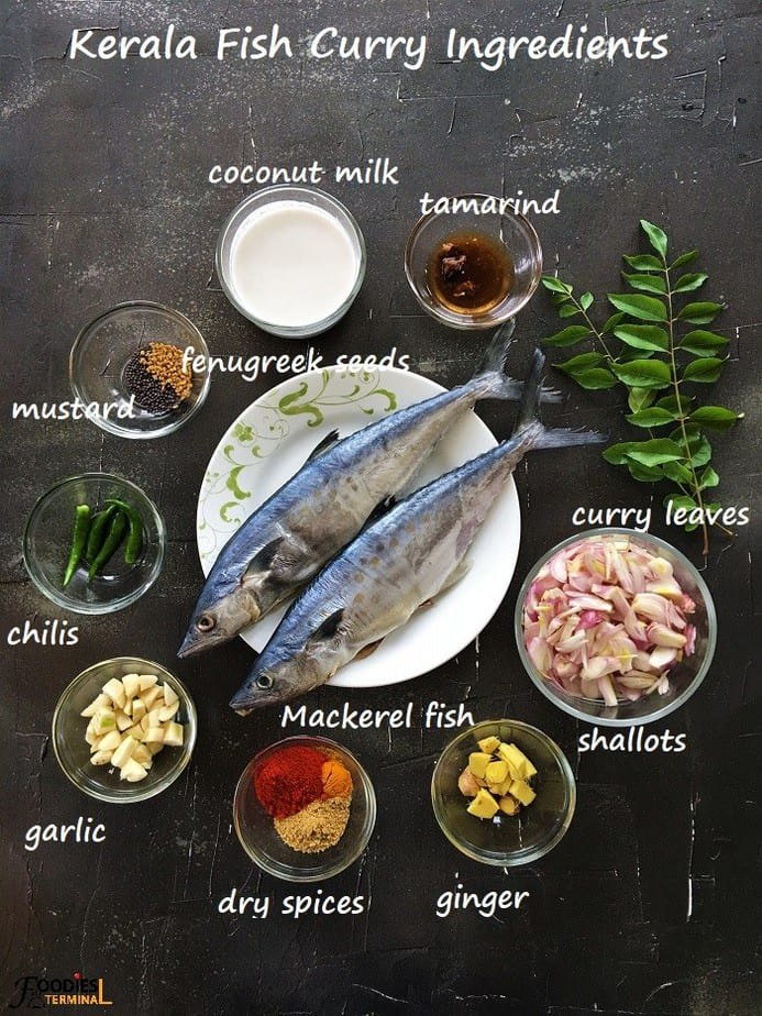 Nadan Meen Curry Ingredients