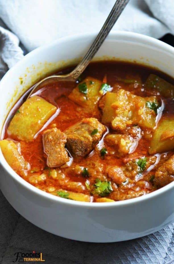 Lauki Gosht made with Ghiya & mutton