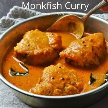 Easy Monkfish Curry recipe made with coconut milk