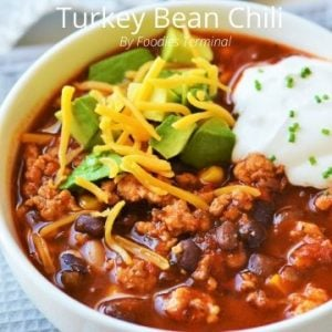 Instant Pot turkey chili with black bean