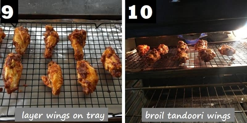 broil the tandoori chicken wings