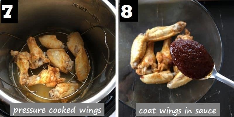 coat the pressure cooked wings in tandoori sauce
