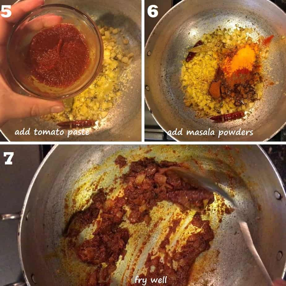 fry masala powders and tomato paste