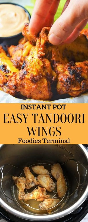 Instant Pot Chicken Wings with tandoori marinade