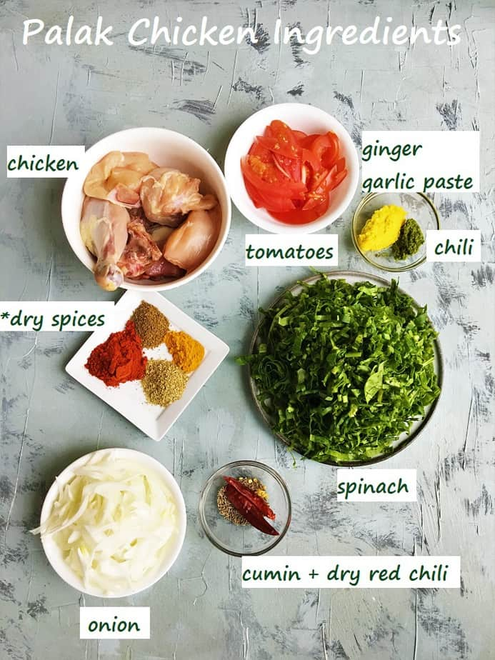 recipe ingredients in bowls on a grey surface