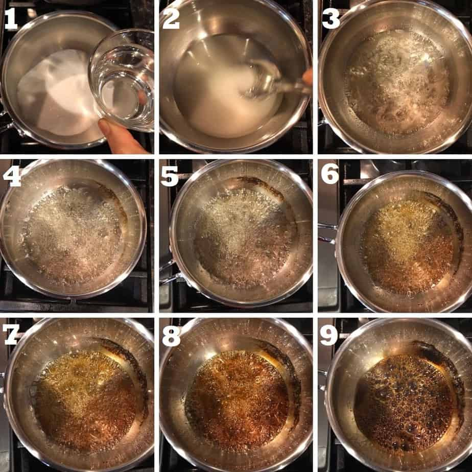 how to make caramel step by step with process photos of each step