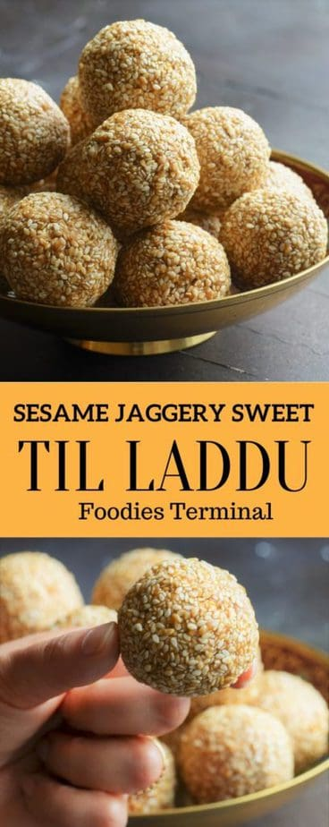 Til ke laddu with sesame and jaggery