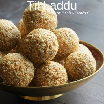 Til Laddu stacked in a pile made
