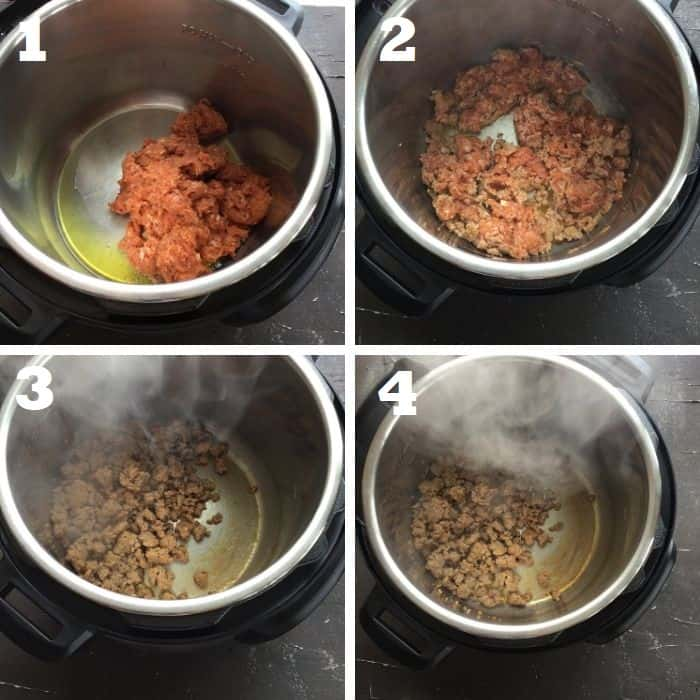 browning the sausage in instant pot