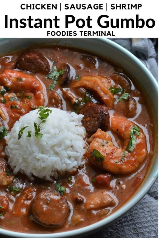 Instant Pot Gumbo and rice New Orleans style