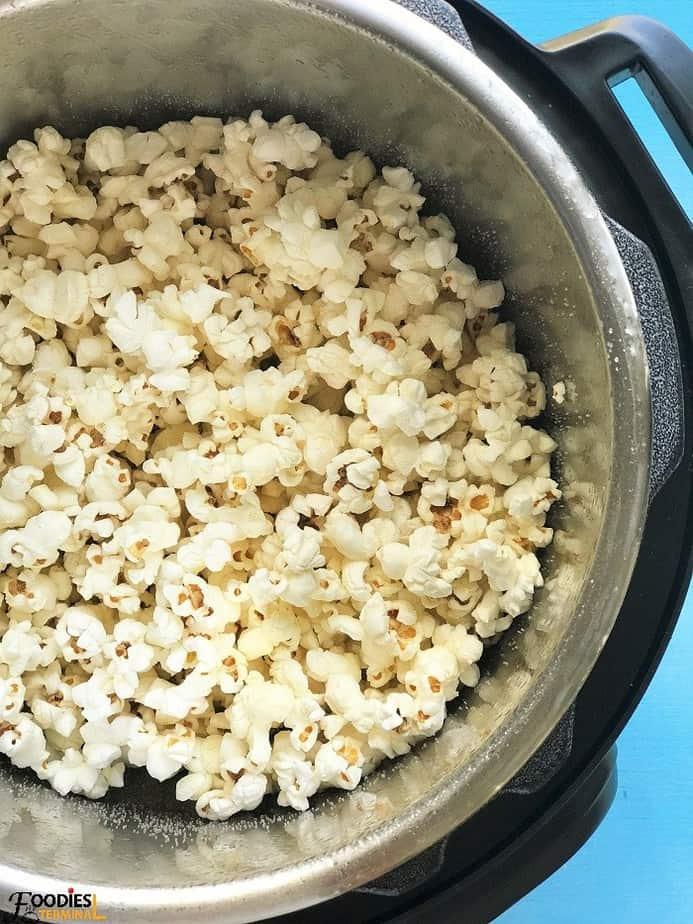 Instant pot kettle corn ready