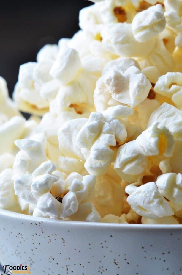Instant pot popcorn macro photo
